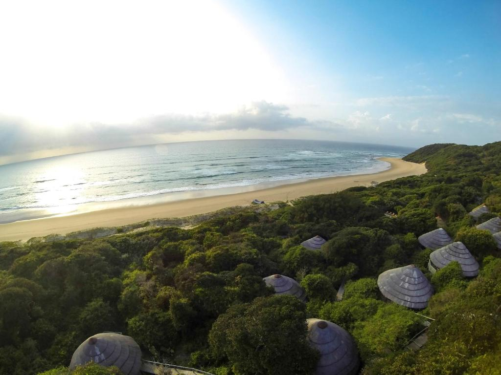 A bird's-eye view of Thonga Beach Lodge