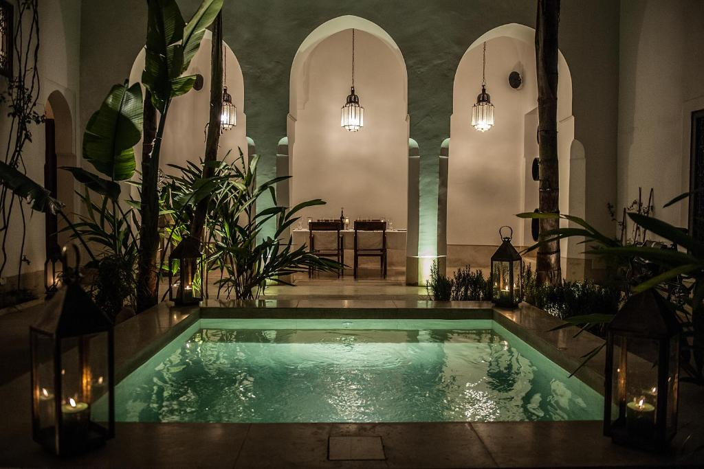 The swimming pool at or near Riad Jaaneman
