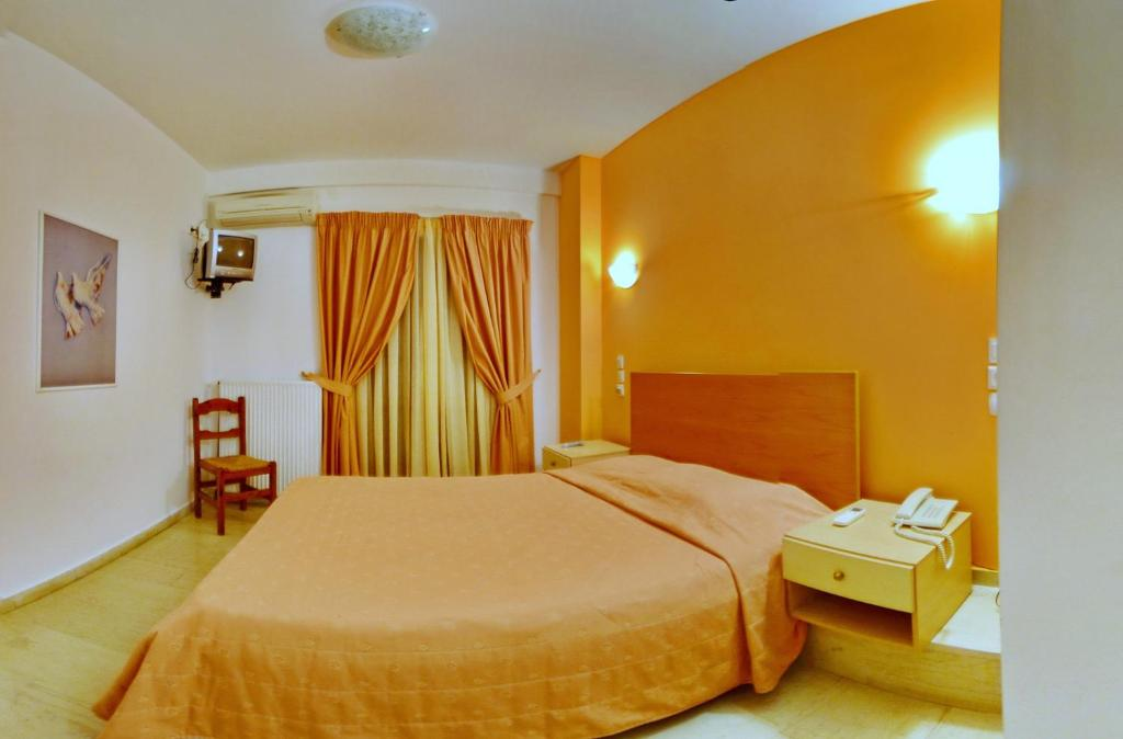 Letto o letti in una camera di Aretousa Hotel