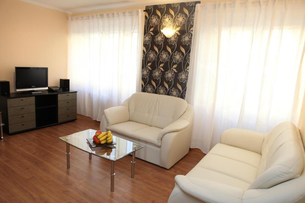 A seating area at Apartments Bratislava - Jakubovo Square