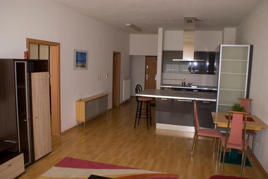 A kitchen or kitchenette at Apartmán Mickiewiczova