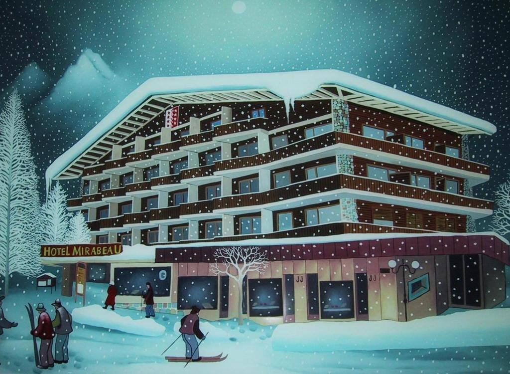 Hotel Mirabeau during the winter