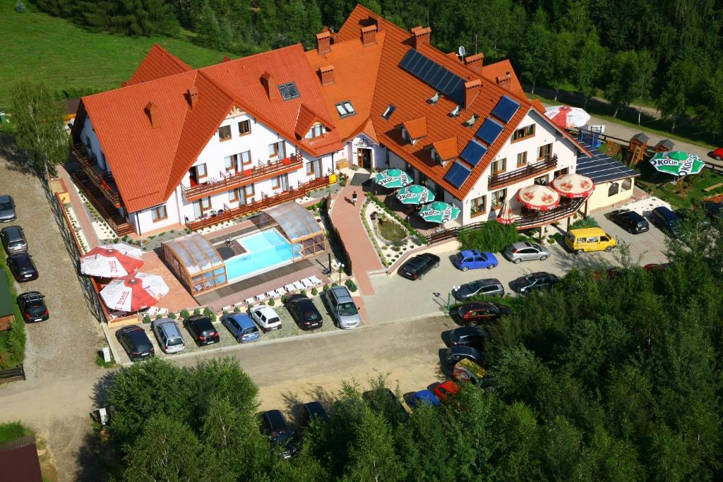 A bird's-eye view of Hotel Zefir