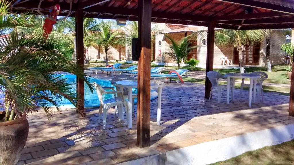 The swimming pool at or near Pousada 7 Mares