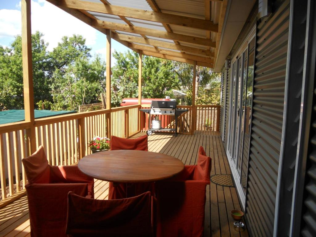 A balcony or terrace at Rosebank Bed and Breakfast
