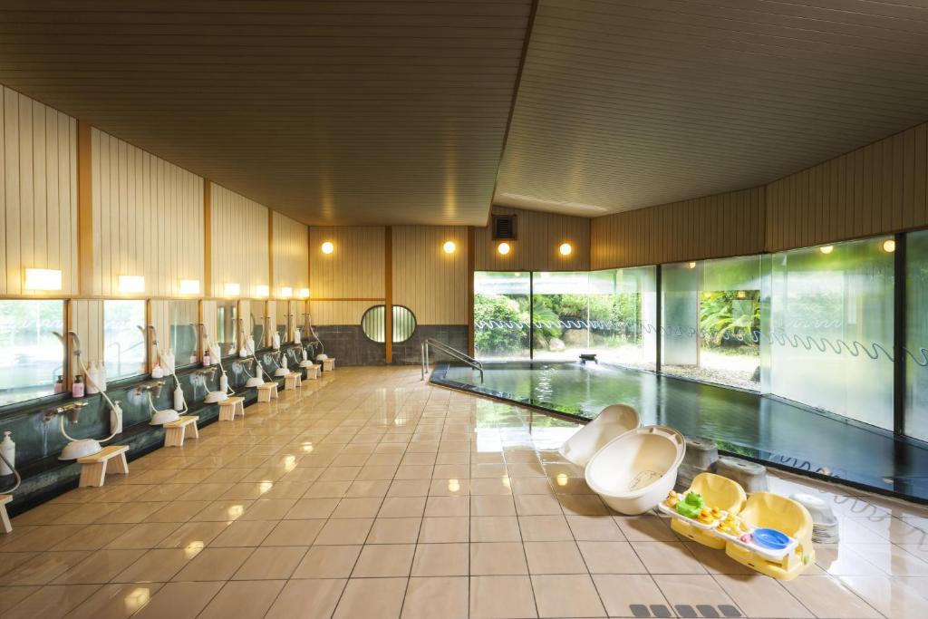 ポイント3.癒しの庭園風呂