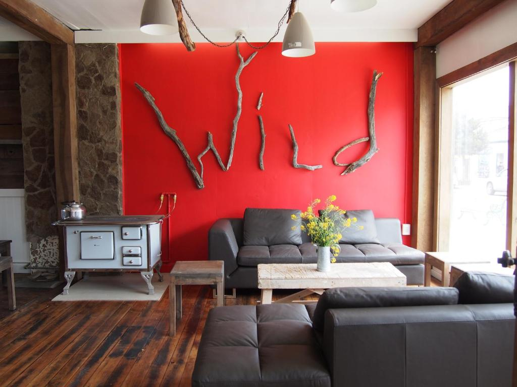 A seating area at Wild Hostel