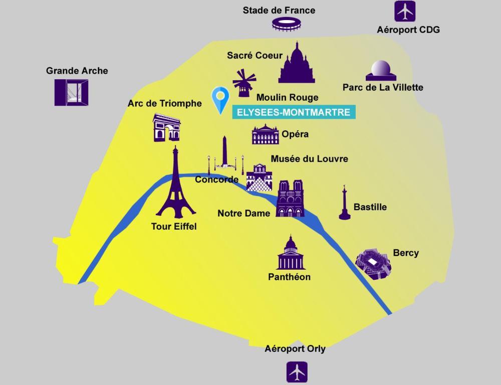L genhet studio paris 8eme fra paris for Hotel design paris 8eme