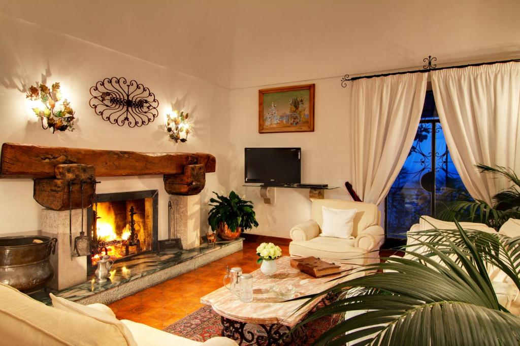 Area soggiorno di Villa Oliviero