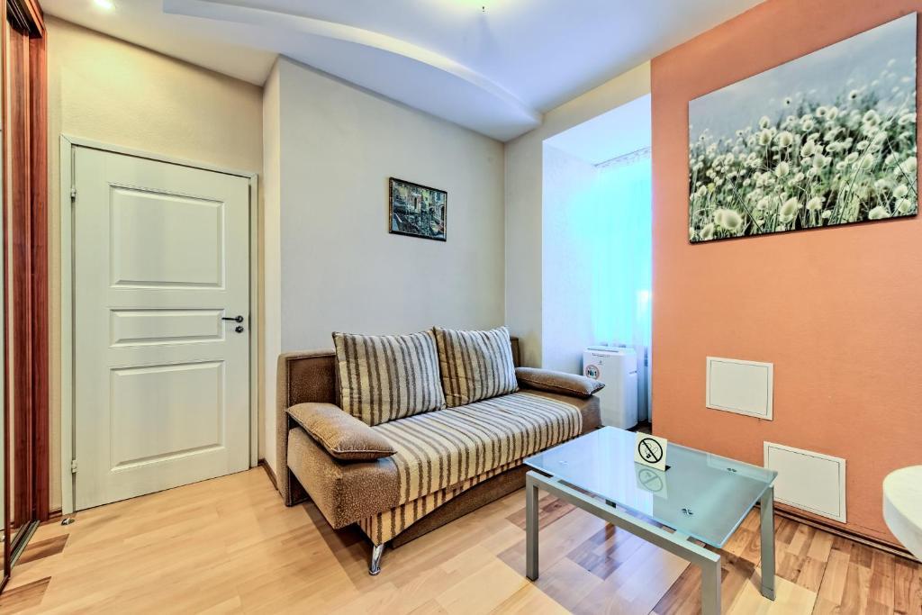 A seating area at Oksana's Apartments - Nevsky 88