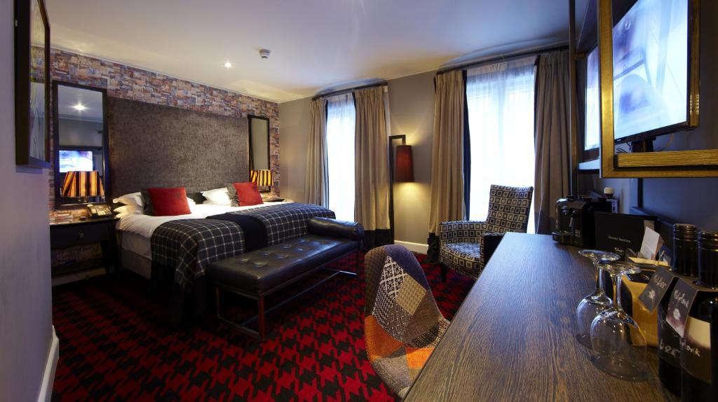 Chambre confortable de l'hôtel Malmaison à Glasgow.
