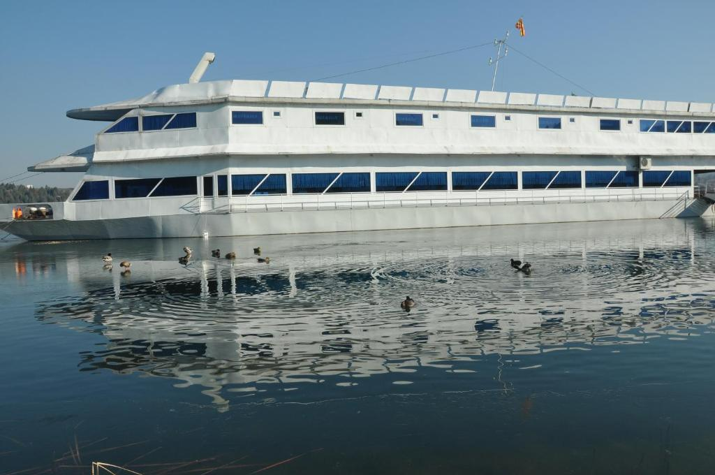 The building where the boat is located