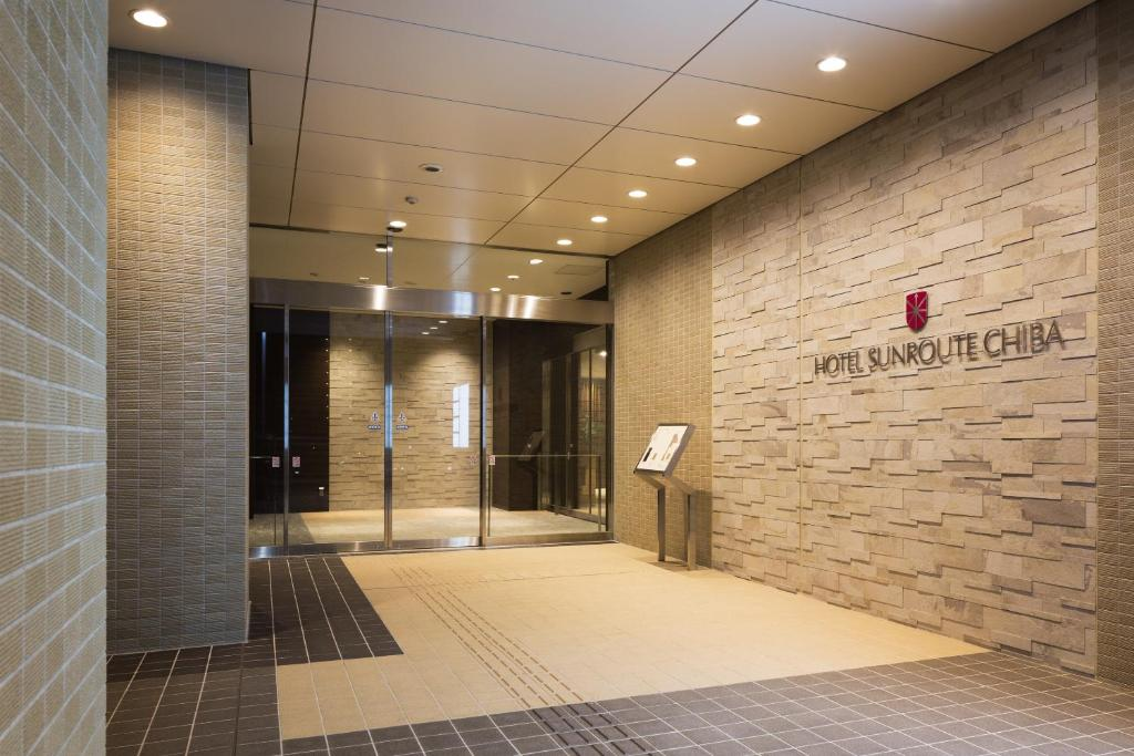 The lobby or reception area at Hotel Sunroute Chiba