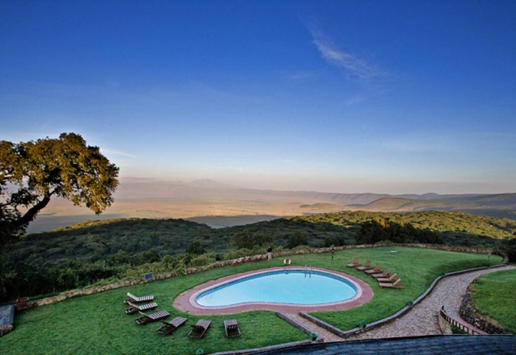 A view of the pool at Ngorongoro Sopa Lodge or nearby