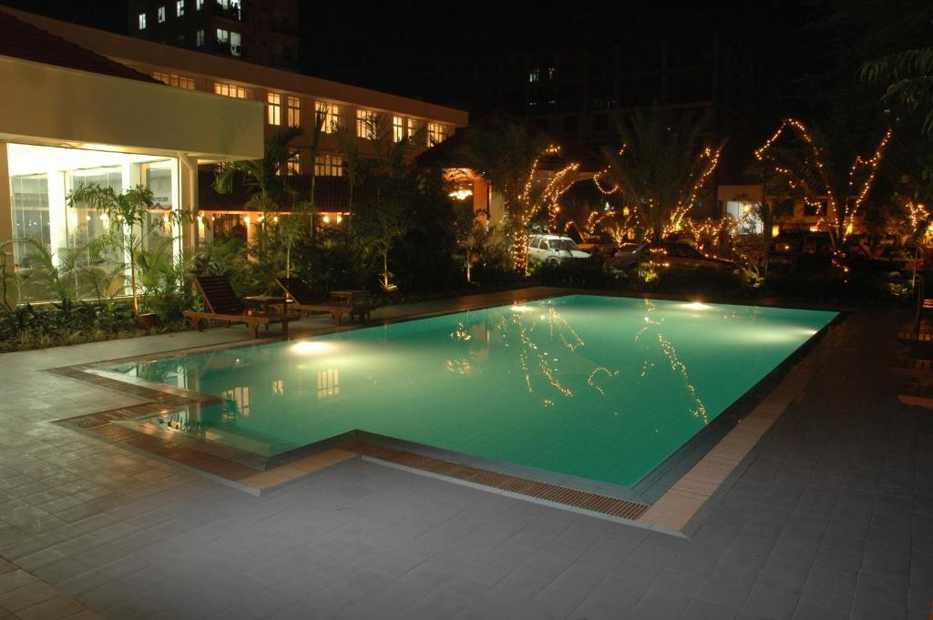 The swimming pool at or near Mandalay City Hotel