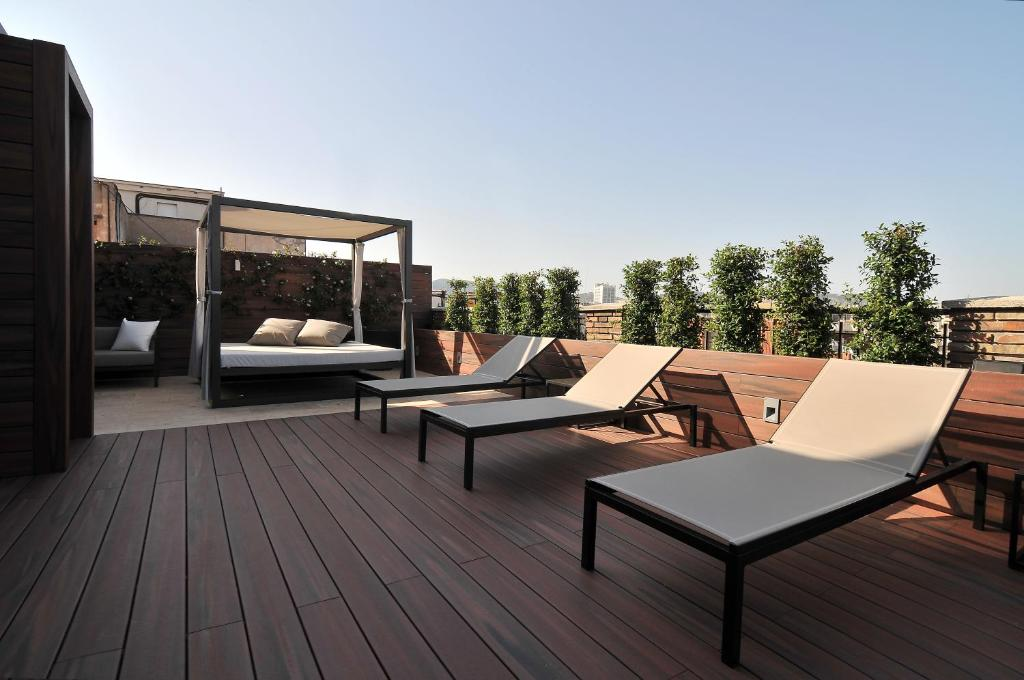 A balcony or terrace at U232 Hotel