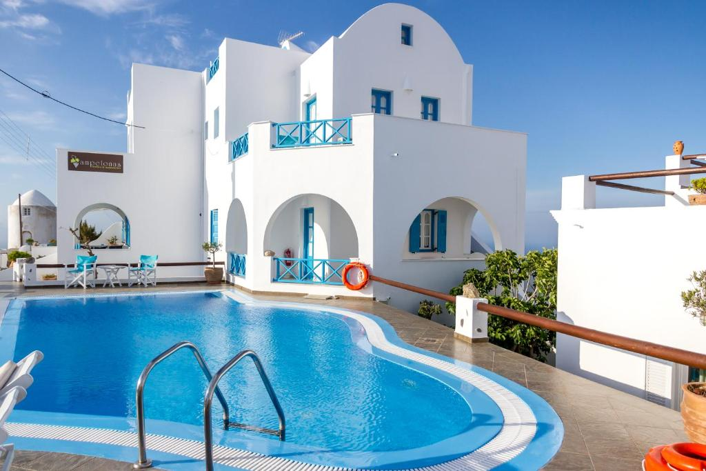 The swimming pool at or near Ampelonas Apartments