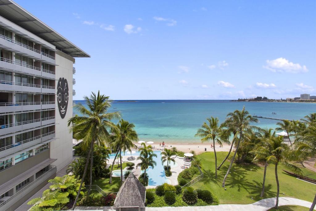 Ein allgemeiner Meerblick oder ein Meerblick von des Hotels aus