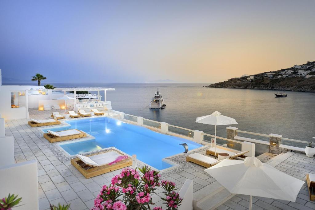 Nissaki boutique hotel platis yialos mykonos greece for Top design hotels mykonos