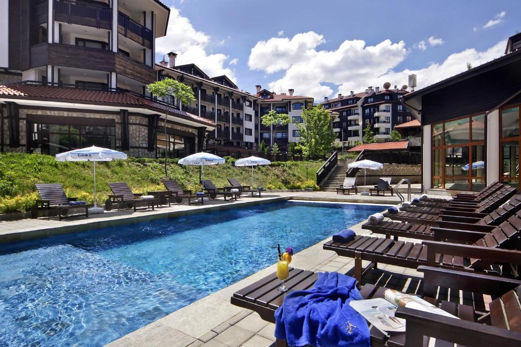 Басейн в или близо до Astera Bansko Apartment Tourist Complex & SPA