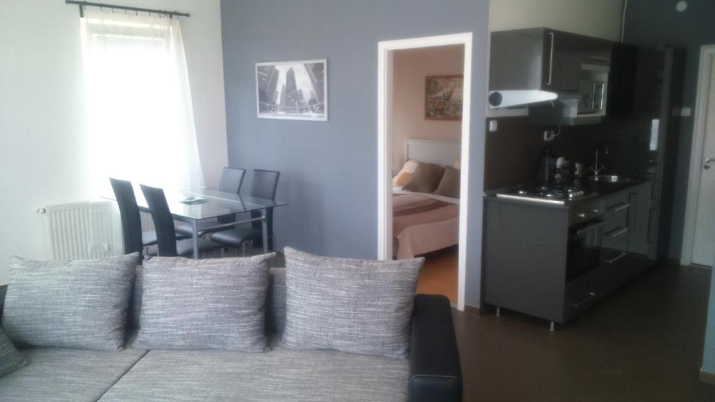 Istumisnurk majutusasutuses Solid Apartmans