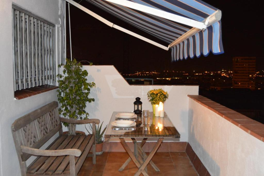 A balcony or terrace at Apartment Pla dels Cirerers