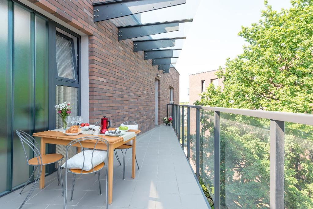 Balkonas arba terasa apgyvendinimo įstaigoje P&O Apartments Liwiecka