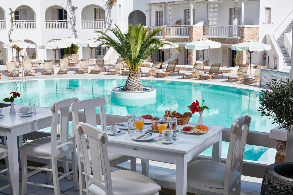 The swimming pool at or near Aegean Plaza Hotel