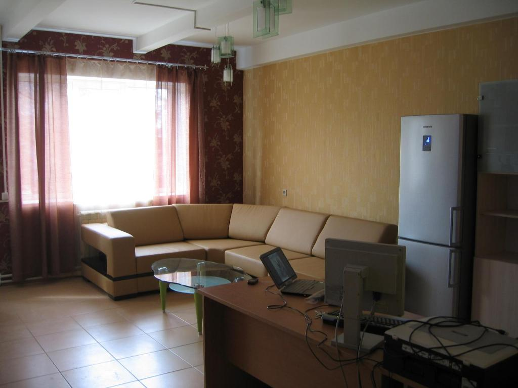 A seating area at Irkutsk Hostel and Tours