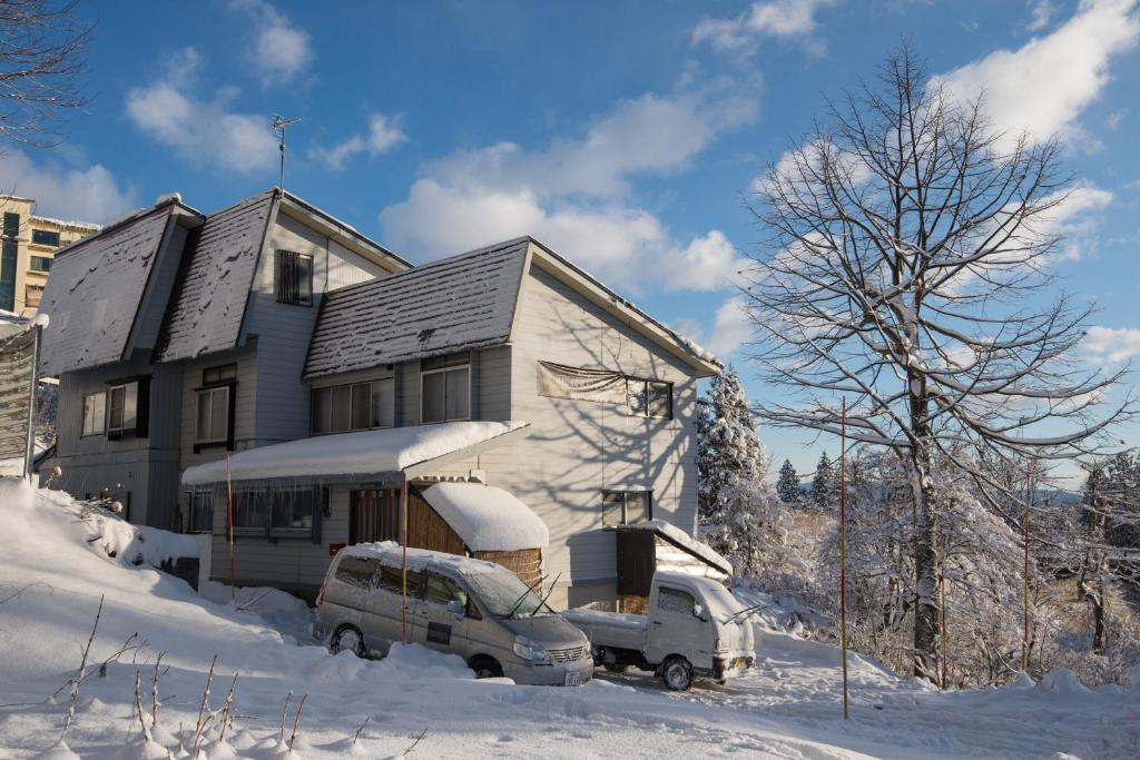 Myoko Powder Hostel during the winter