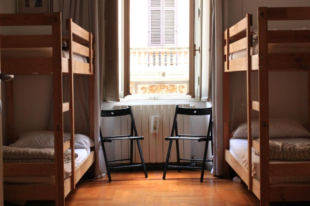 A bunk bed or bunk beds in a room at Global Hostel 247