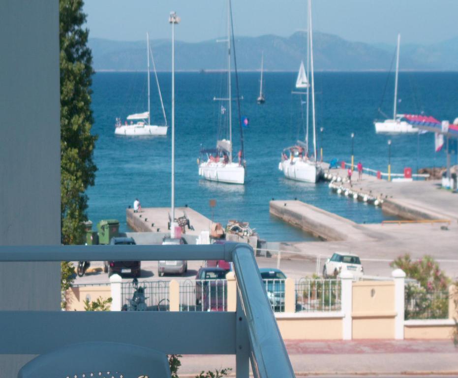 A balcony or terrace at Kos Bay Hotel