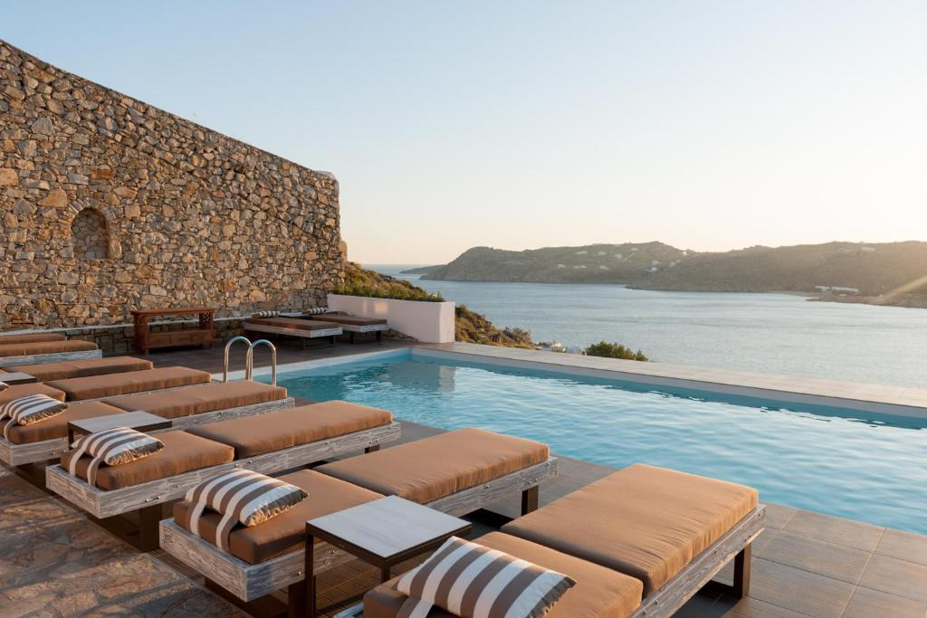 The swimming pool at or near Cova Mykonos Suites