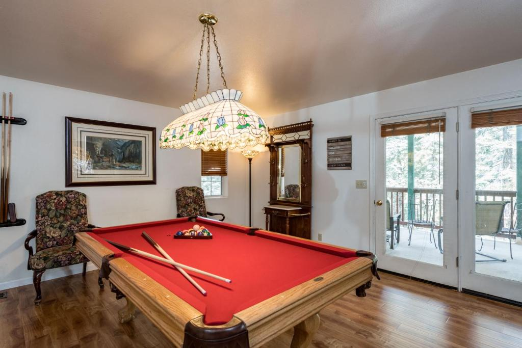 A pool table at Lower Cascades