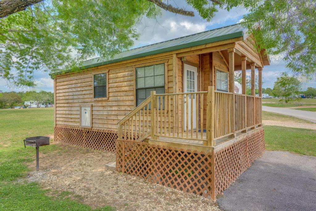 one bedroom cabins. Gallery image of this property Lake Conroe Camping Resort Cabin 4  Willis TX Booking com