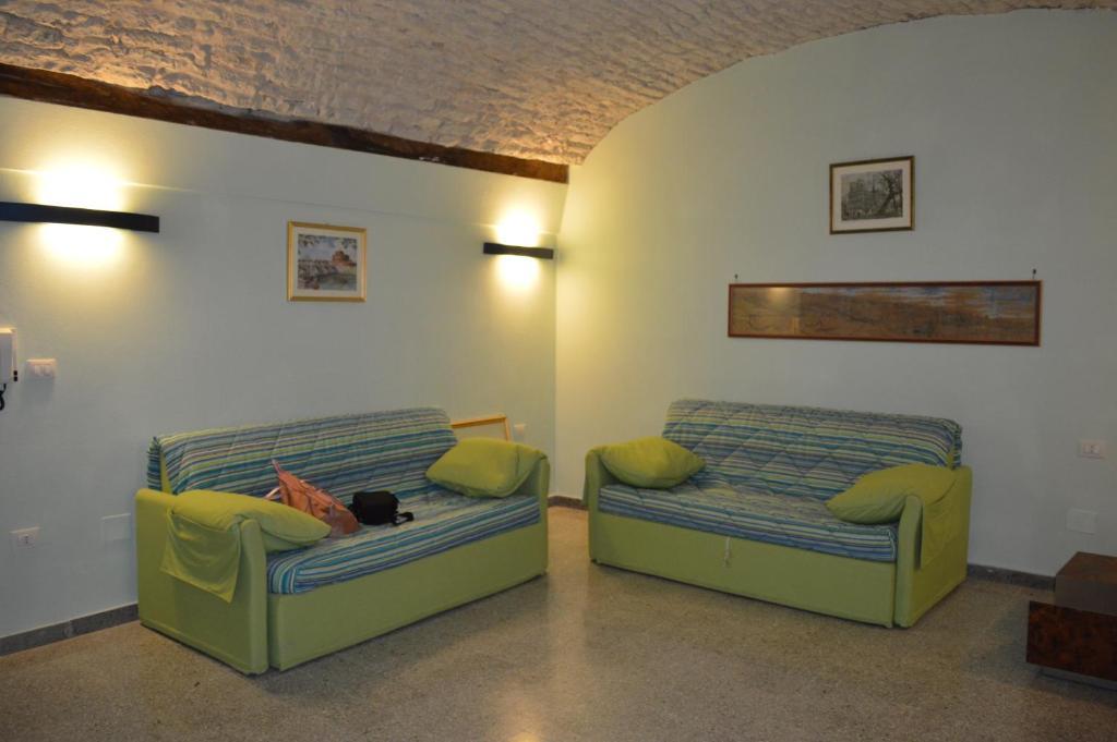 A seating area at Appartamento Arcobaleno