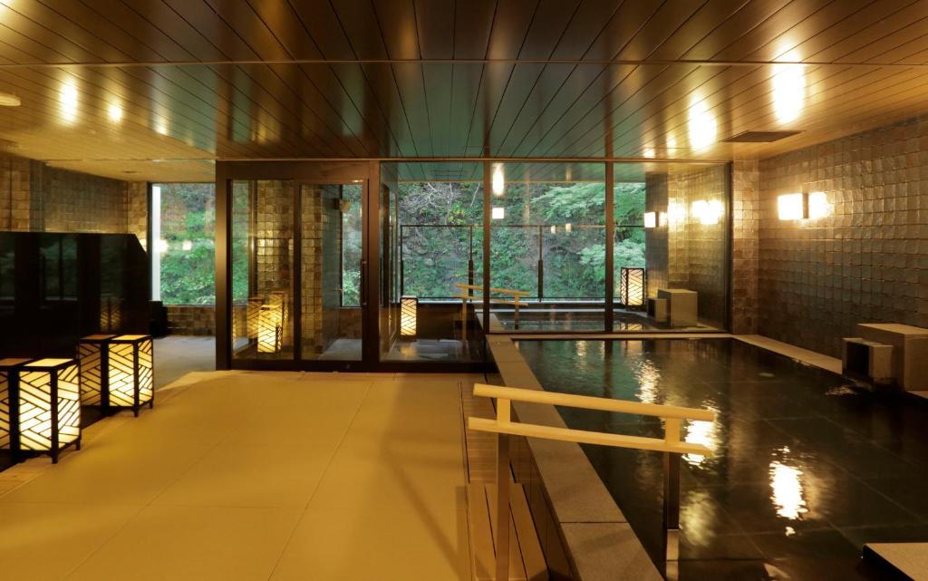 ポイント2.全室露天風呂付の和モダンな空間