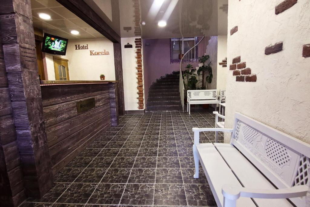 Лаундж или бар в Гостиница Корела