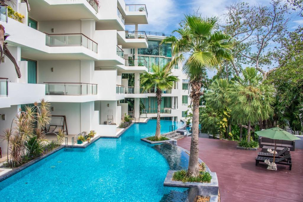 The swimming pool at or near The Sanctuary Wong Amat Condominium by Mr.Butler