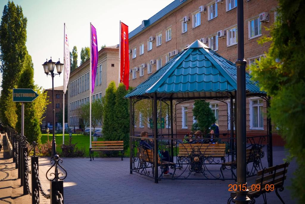 Патио или другая зона на открытом воздухе в Hotel Borisoglebsk