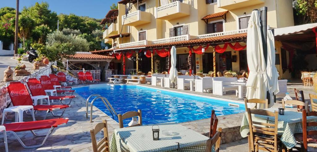 The swimming pool at or near Vasilaras Hotel