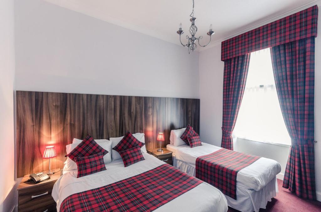 Voodi või voodid majutusasutuse Argyll Guest House toas