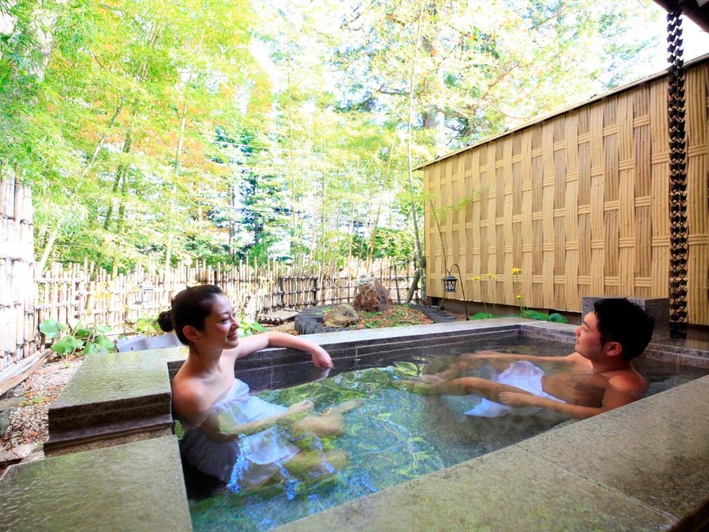 ポイント1.贅沢な雰囲気の貸切露天風呂