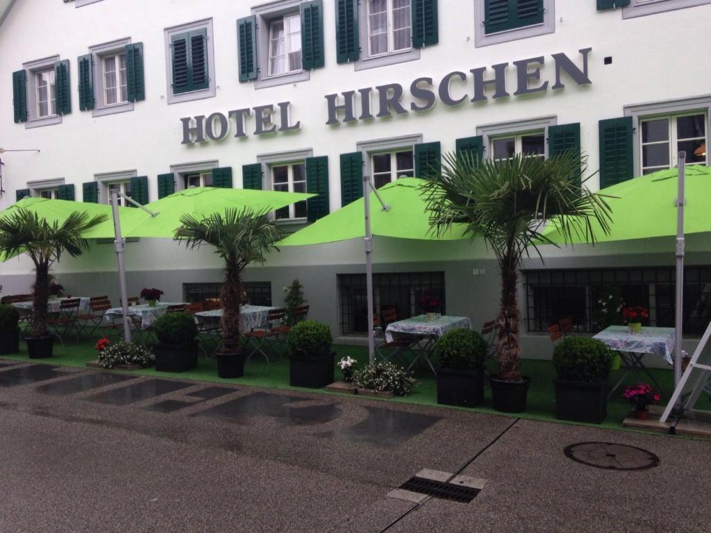 A porch or other outdoor area at Hotel zum Hirschen
