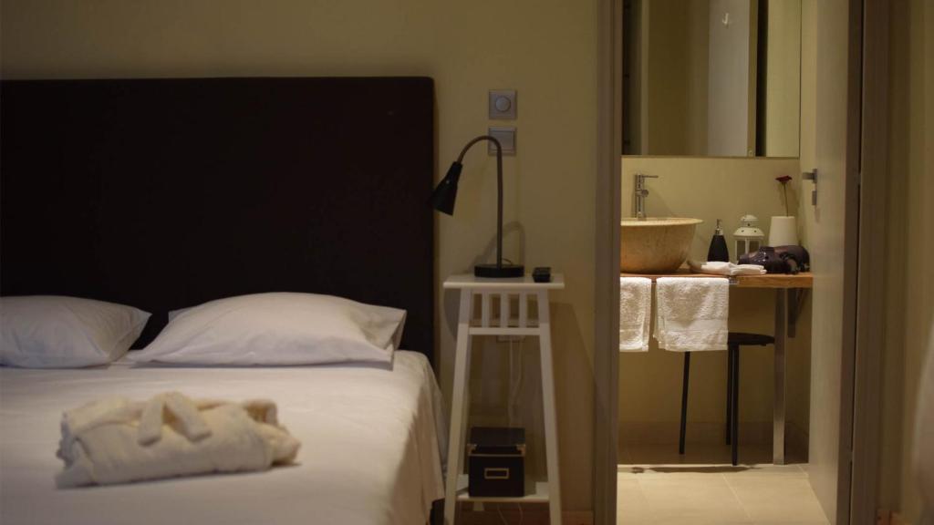 Um quarto em Arahova Pansion