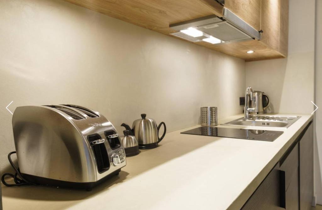 A kitchen or kitchenette at Quartier Notre Dame