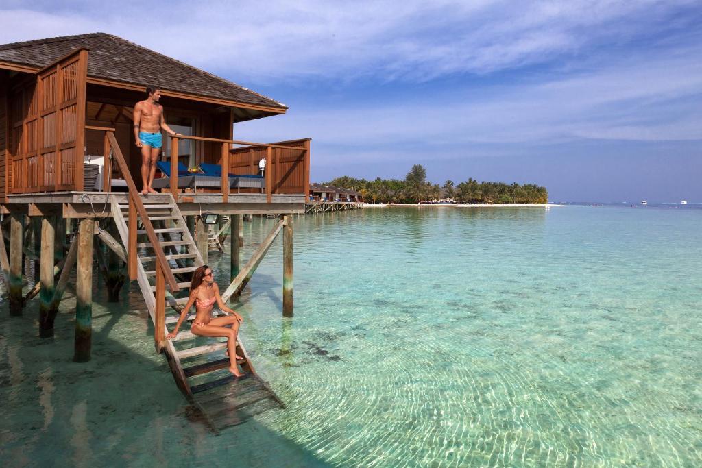 Vilamendhoo Island Resort & Spa, over-water bungalow