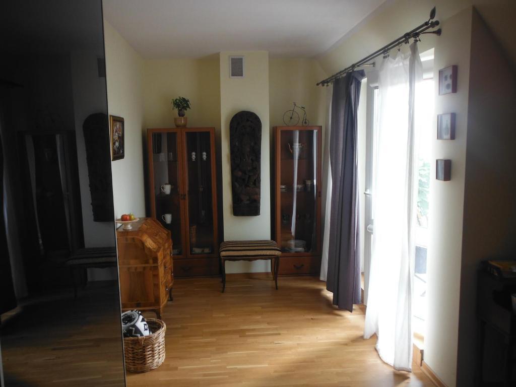 A seating area at Pokój z łazienką i tarasem