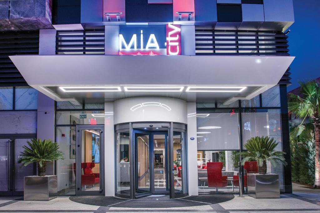 The facade or entrance of Mia City Hotel