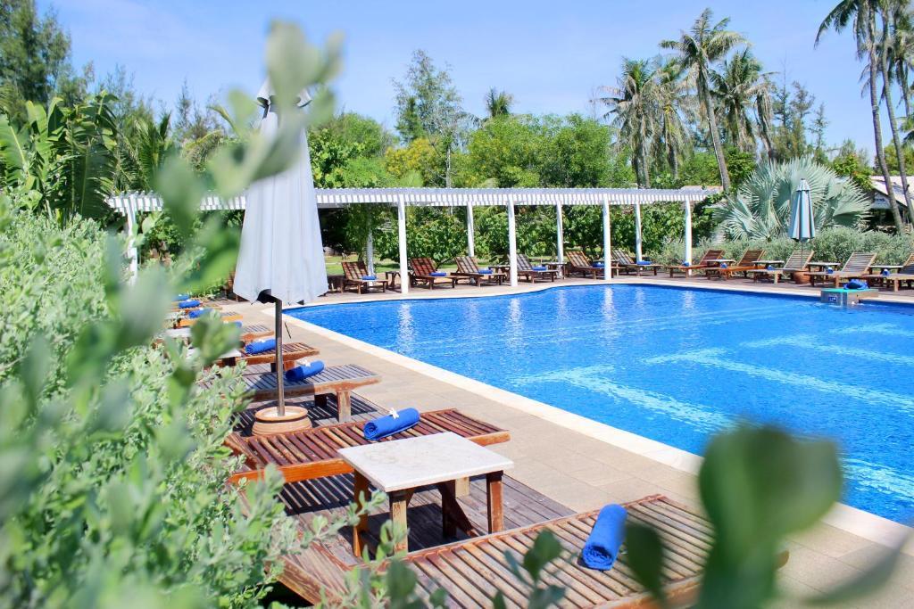 Bazén v ubytování Blue Shell Resort nebo v jeho okolí